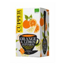 Narancs-citrom tea BIO 20x2,5g Cupper