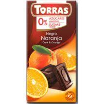 Cukormentes étcsok. narancsos 75g Torras