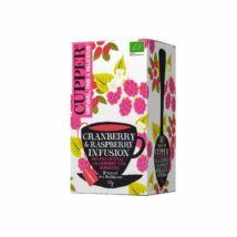 Vörösáfonya-málna tea BIO 20x2,5g Cupper