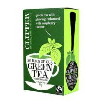 Zöld tea málna-ginseng BIO 20x3g Cupper
