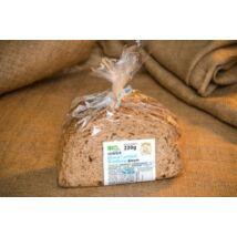 BIO kontyos kenyér szeletelt 220g Piszke