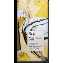 Fehércsokoládé Mangó-kókuszos bio Vivani