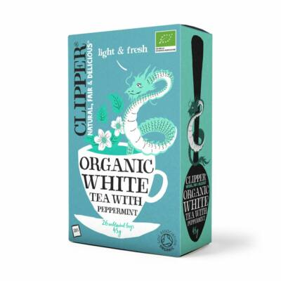 Fehér tea borsmentás BIO 26x1,7g Clipper