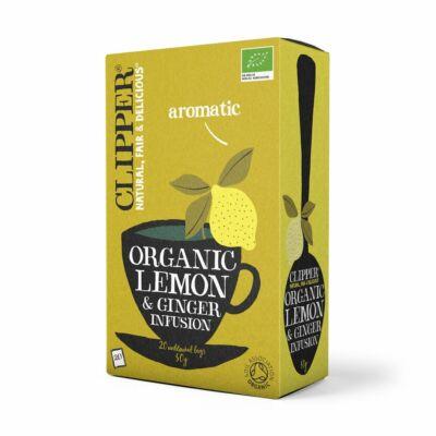 Citrom-gyömbér tea BIO 20x2,5g Clippers