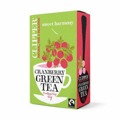 Zöld tea vörösáfonyás BIO 20x2g Clipper