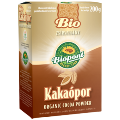 Kakaópor 11% zsírt. BIO 200g Biopont