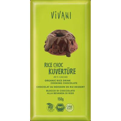 Rizsitalos főzőcsokoládé BIO 150g Vivani