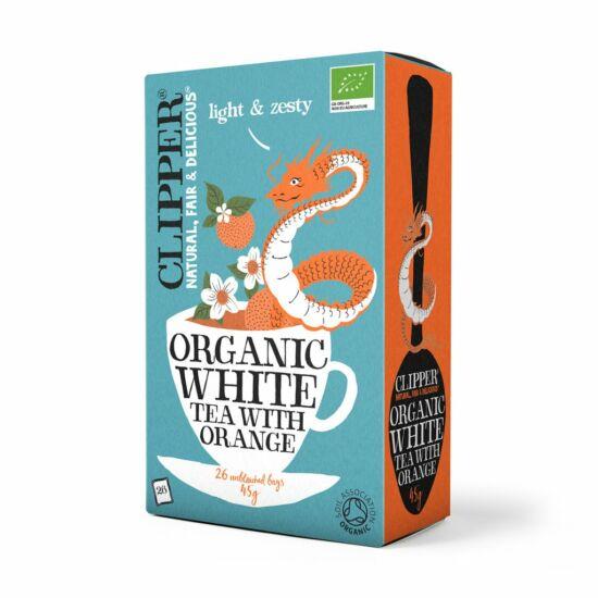 Fehér tea narancsos BIO filt.45g Clipper