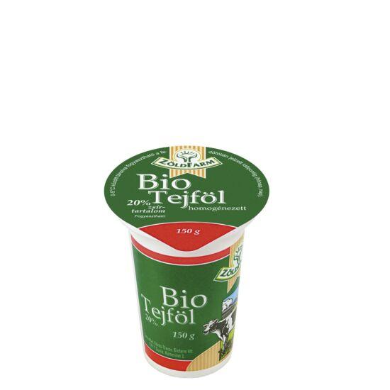 Bio tejföl 20% Zöldfarm 150g